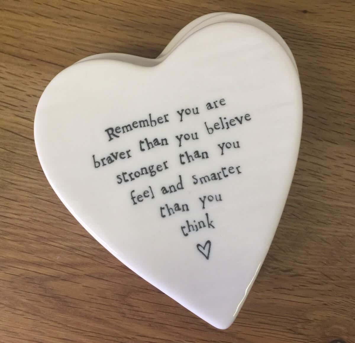 ceramic heart braver than you think Joan Kennedy
