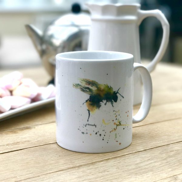 watercolour bee on mug