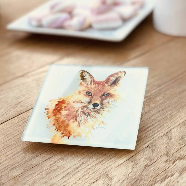 glass fox coaster