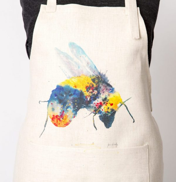 large bee image on apron