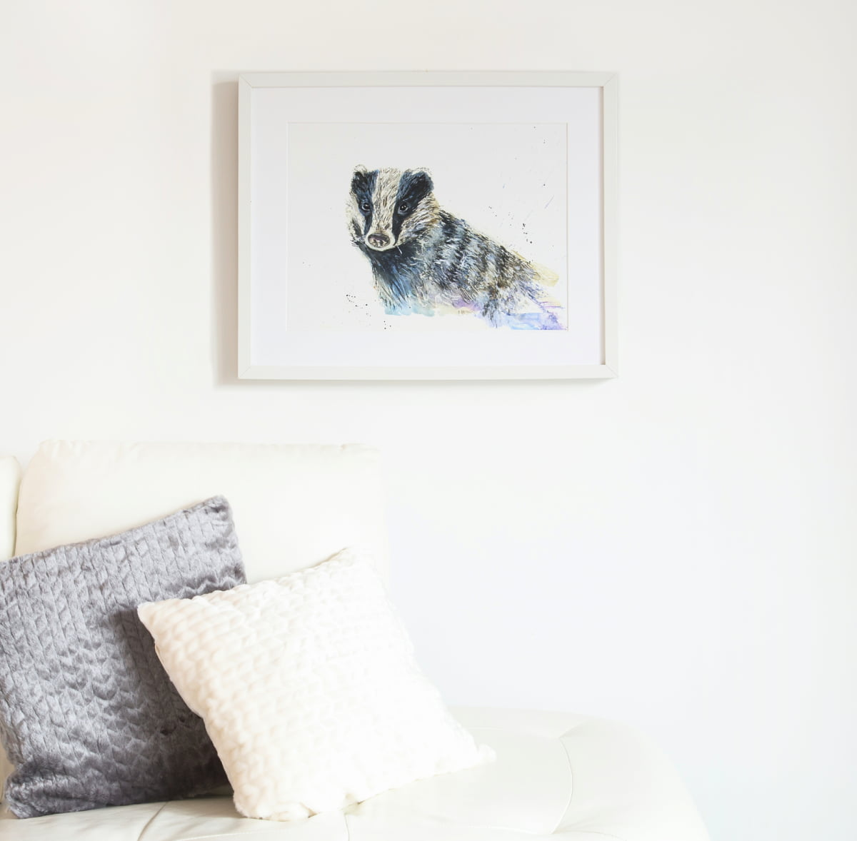 badger watercolour print giclee