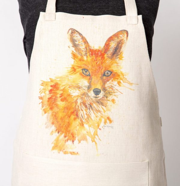 large fox image on apron