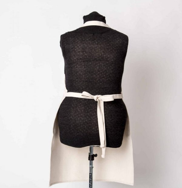 Apron with wrap round belt