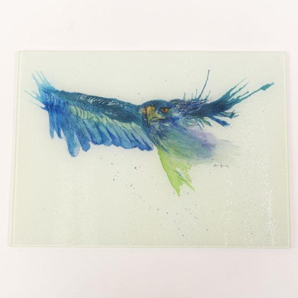 vibrant eagle bird watercolour