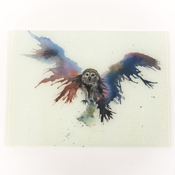 owl watercolour image