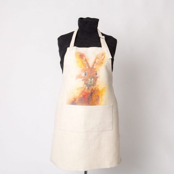 hare image on apron