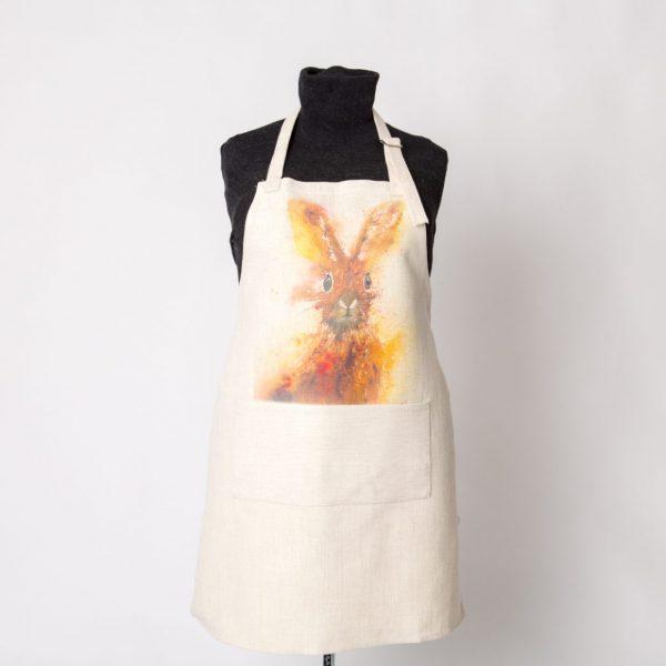 hare image on apron