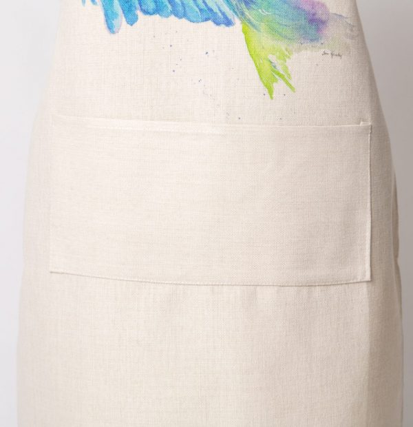large pocket of apron