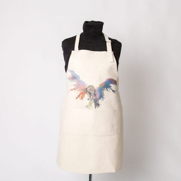 beautiful apron with image of owl