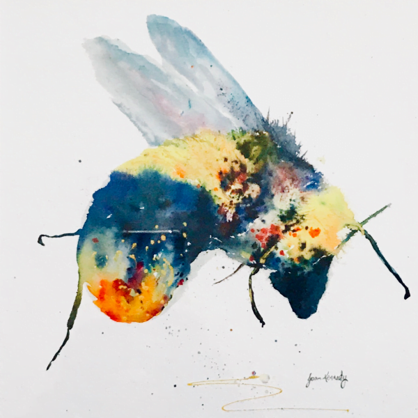 Bee watercolour