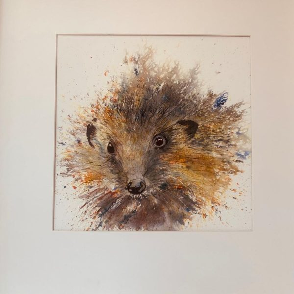 hedgehog watercolour print