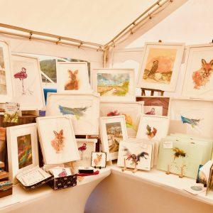 Leek market Joan Kennedy framed paintings