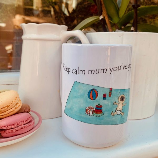 mother's day mug with funny image