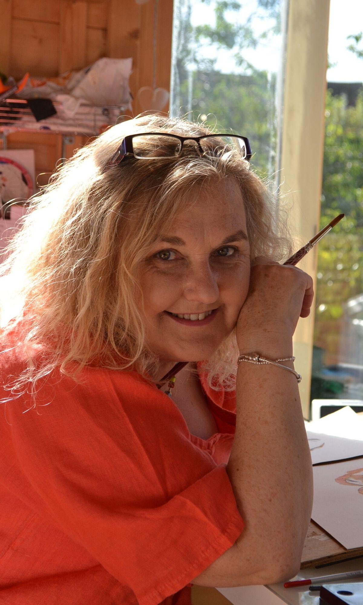 Joan Kennedy in studio