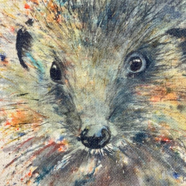 watercolour image of hedgehog