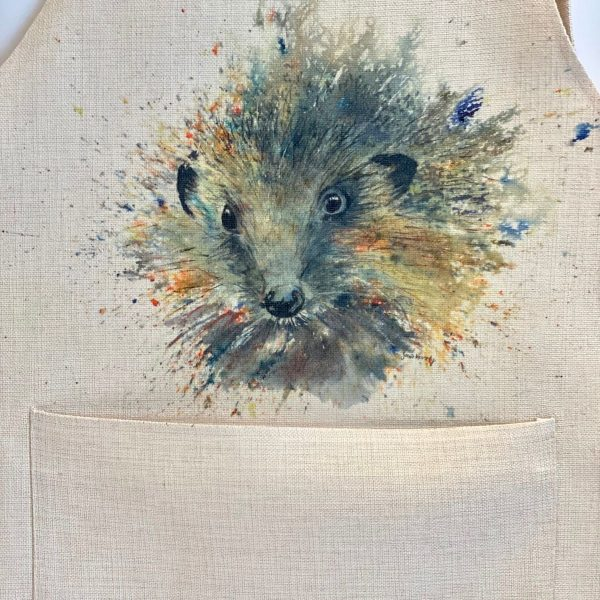 apron with abstract hedgehog image