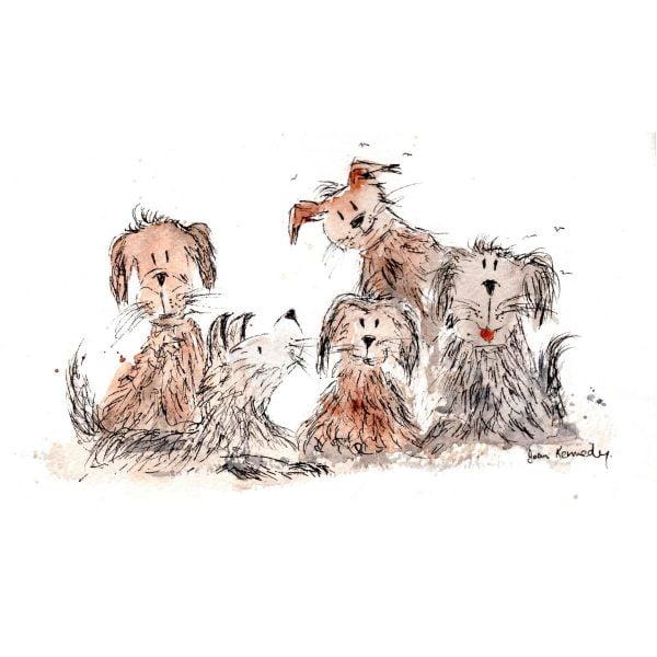 5 funny dog illustration