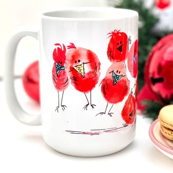 robins flying mug