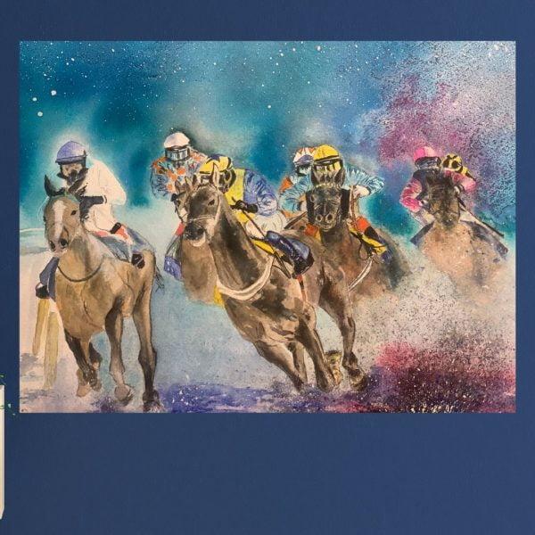 jockey gift painting