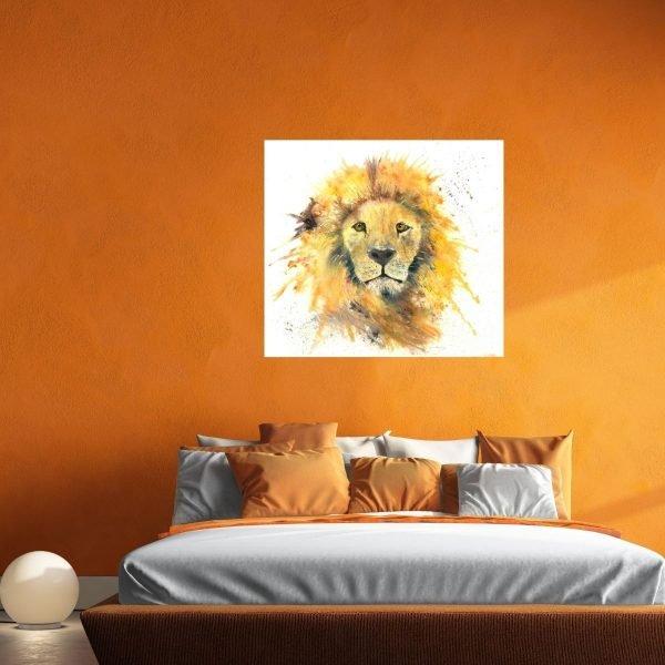 watercolour lion in situ