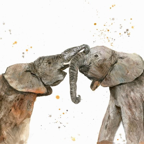 Two elephant canvas