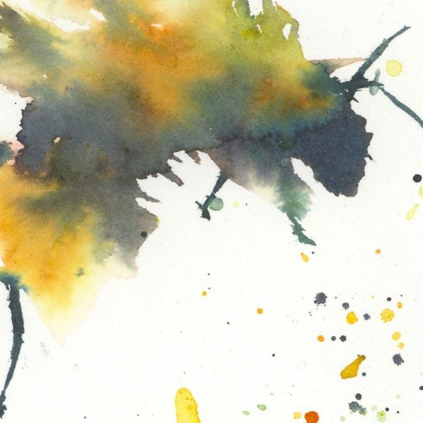 watercolour bee close up