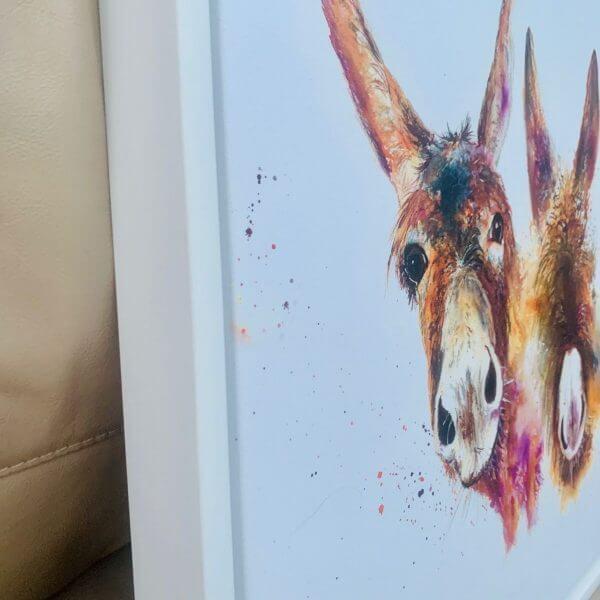 side of donkey