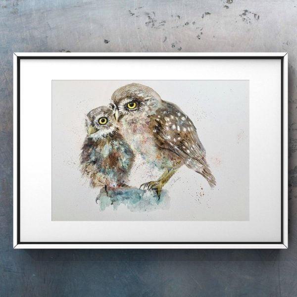 owl in picture frame