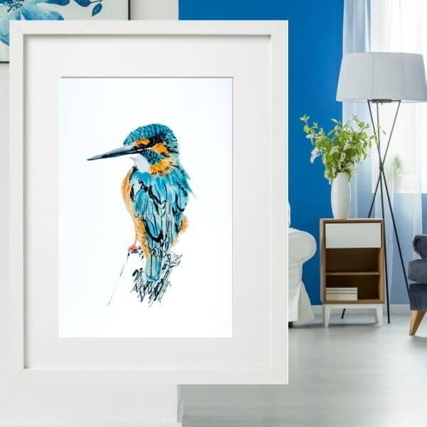 blue kingfisher drawing